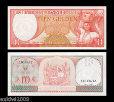Suriname 10 Gulden 1963 P-121 Mint UNC Uncirculated Banknotes