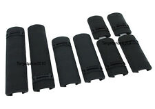 New Tactical look 8 pieces Rail cover for picatinny rail Airsoft (Black)