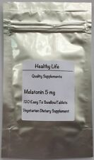 HEALTHY LIFE MELATONIN 5mg 120 TABLETS  FROM UK FREE WORLDWIDE SHIPPING ++++++++