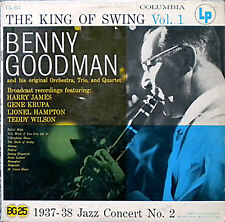 "BENNY GOODMAN ""THE KING OF SWING VOLUME 1"" PREMIUM QUALITY USED LP (EX/VG+)"