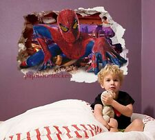 HUGE SPIDER MAN SKYSCRAPER 3D EFFECT  - Printed Vinyl Wall Sticker Decor