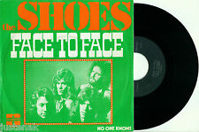 the SHOES 'Face to Face / No one Knows' 1974 DUTCH POP PS VINYL 7""