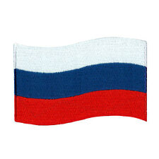 """RUSSIA FLAG RUSSIAN EMBROIDERED IRON-ON PATCH SIZE 3"""" JACKET JEANS BEANIE HAT"""