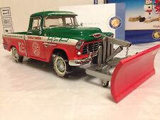 1/24 Franklin Mint Red 1955 Chevrolet Cameo Carrier Snowplow Pickup Truck