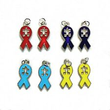 Autism Charms Awareness Ribbon Puzzle Piece Aspergers Syndrome Jewelry Lot of 24