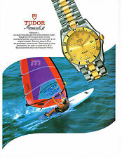 PUBLICITE ADVERTISING 025  1992  TUDOR  collection montre MONARCH II