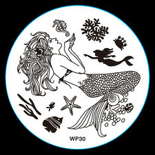 NEW Design DIY Nail Art Image Stamp Stamping Plates Manicure Template Tool WP-30