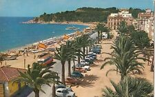 BF22943 lloret de mar costa brava passeo del mar y playa spain front/back image