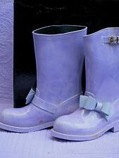 Red Valentino Rain Bow Boots Lilac Women's 37 Pre-Owned Beautiful Color Unusual