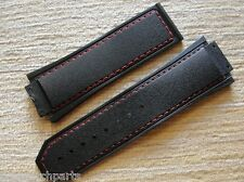 High Quality Black Rubber Strap W/Red Stich Vanilla Smell for 48mm HBB F1