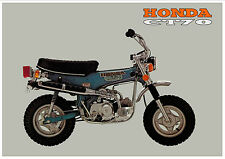 HONDA Poster Classic CT70 Dax 1972 1973 1974 1975 1976 1977 Suitable to Frame