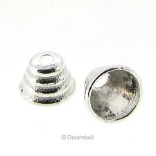 8 Bright Sterling Silver Bali Bead cone Cap 4mm x 5mm