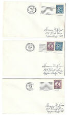 US 1932 Summer Olympics Los Angeles Sc 718 719 set 3 Covers Airmail & Arcade Sta