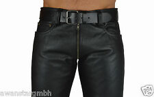 Größe 34W Original Lederhose 2 Wege RV Biker Jeans leder hose,leather trousers