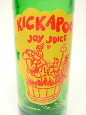 vintage ACL Soda POP Bottle: green  KICKAPOO JOY JUICE from NUGRAPE - 10 oz ACL