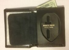 BI-FOLD RECESSED SHIELD BADGE WALLET CCW CWP SHERIFF PRIVATE INVESTIGATOR