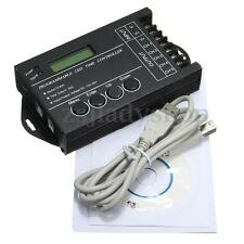 Programmable LED Time Dimmer RGB Controller TC420 DC12V/24V 5 Channel 20A + CD