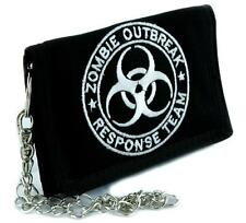Zombie Outbreak Response Team Tri-fold Wallet with Chain Clothing Walking Dead