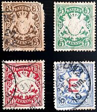 ANTIQUE RARE COLLECTIBLE SET OF BAYERN BAVARIA GERMANY POSTAGE STAMPS