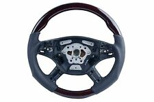 2005 06 07 08 for Mercedes W164 ML M Class Steering Wheel Walnut Black Leather