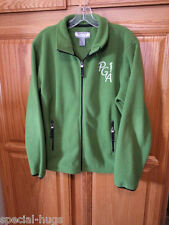 Queensboro Green Fleece Ladies Jacket * PGA * Med