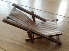 1/12TH SCALE AGED & DISTRESSED OLD DECK CHAIR