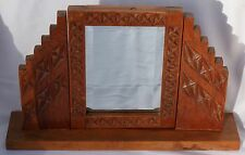 Vintage New Mexico 1930's-1940's WPA Era Hand Carved Pine Dressing Table Mirror