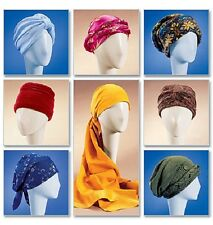 "McCall's 4116 Paper Sewing Pattern Turban Headwrap Hat Chemo  21.5"" 22.5"" 23.5"""