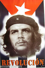 """CHE GUEVARA MEXICAN POSTER """"REVOLUCION"""" - WEARING BEREZ WITH STAR ABOVE HEAD"""
