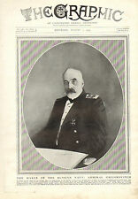 1915 WWI PRINT ~ ADMIRAL GRIGOROVITCH FOUNDER OF THE MODERN RUSSIAN NAVY