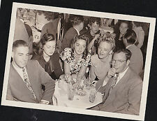 Old Vintage Photograph People Sitting Around Small Table in Club - Retro Outfits