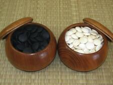JAPANESE GO GAME GOKE SHELL SLATE STONES (Size 28) 7.5mm, Snow/Moon Grade