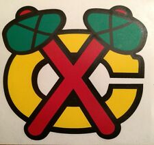 """Chicago Black Hawks Decal 5.25""""x5.5"""" 4 Color Vinyl Decal**FREE SHIPPING**"""