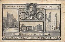 ALASKA YUKON PACIFIC EXPOSITION UNIVERSITY PENNSYLVANIA SOUVENIR POSTCARD 1909