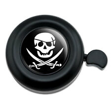 Pirate Skull Crossed Swords Jolly Roger - Bicycle Handlebar Bike Bell