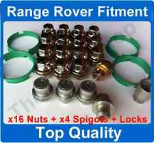 Range Rover Sport to P38 Alloy Wheel Nuts 22.5mm Shank + Spigots + Locking nuts