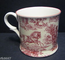 1 Romance Red English Fine Bone China Chintz Mug Cup Beaker By Milton China