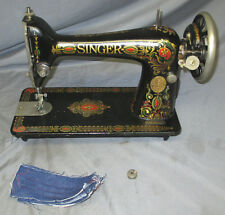 Serviced Antique 1922 Singer 66-1 Red Eye Treadle Sewing Machine WORX Video