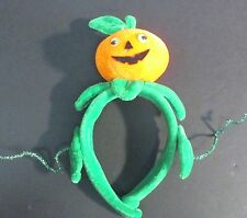 Beautiful Infant or Toddler's Velvet Pumpkin Head Band for Halloween