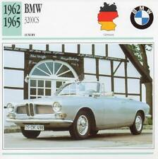 1962-1965 BMW 3200CS Classic Car Photograph / Information Maxi Card
