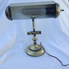 Vintage Brushed Brass Desk Piano Light Underwriter Laboratories Steampunk