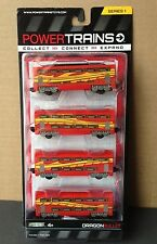 Power City Trains DRAGON BULLET Set 4 Cars Series 1 New and SEALED
