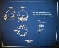 """German Diving Helmet & Suit 1915 Design Blueprint Plans 20""""x23""""  2 pages (189)"""
