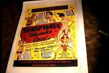 STRIP TEASE MURDER CASE ORIG MOVIE POSTER 1950 LINEN BURLESQUE PIN-UP BAD GIRLS