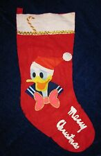Donald Duck Christmas Stocking Disney Productions Japan Cloth Felt Appliques