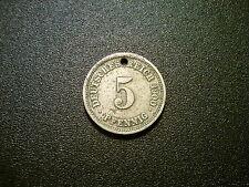 1900F GERMANY 5 PFENNIG COIN
