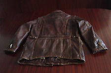 New Polo Ralph Lauren Distressed Leather Jacket Cowhide Antique Brown Men's M