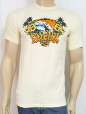 O'Neill Surfing Tropical Big Wave Ivory Slim Fit T-Shirt New NWT Mens Small