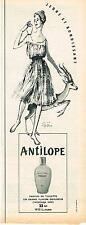 PUBLICITE  1955  WEIL  parfum ANTILOPE signé  DIZEN FENN