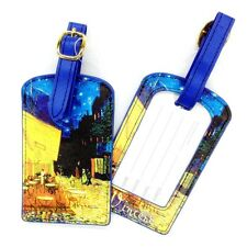 "Luggage Tag -""Cafe Terrace at Night""  by Van Gogh - Easy to spot your bag!"